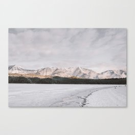 Frozen Lake Views - Landscape Photography Canvas Print