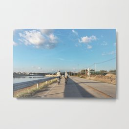 suburb blue sky Metal Print