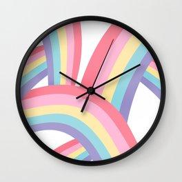 Rainbow abstract pattern Wall Clock