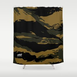 Green Tiger Camouflage Shower Curtain