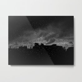 Rainy Day in Brussels Metal Print