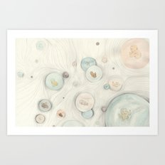 baby bubbles Art Print