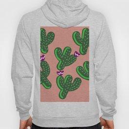 Prickly Cactus with Purple Flowers Hoody