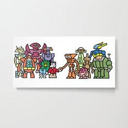 Toru meets the Robots Metal Print