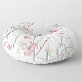 Apple Blossom #society6 #buyart Floor Pillow