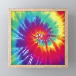 Tie Dye Swirl Pattern Framed Mini Art Print