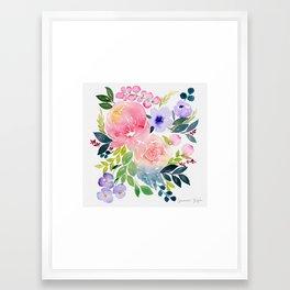 Floral Bouquet Framed Art Print