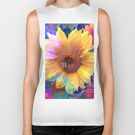 Summer's Sweetest Sunflowers Biker Tank