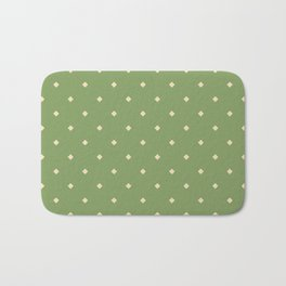 Green and yellow pattern with rhombs Bath Mat