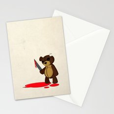 Psycho Teddy Stationery Cards