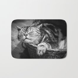 sleepy cat Bath Mat