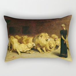 Daniel In The Lions Den 1872 By Briton Riviere Rectangular Pillow