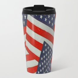 Patriotic Americana Flag Pattern Art #2 Travel Mug