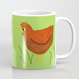 Chicken with Heart Pattern Coffee Mug
