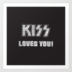 KISS LOVES YOU #0 Art Print