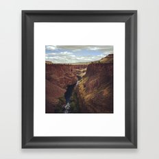 Otter Bench on the Crooked River, OR Framed Art Print