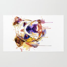 English Bulldog Head Rug