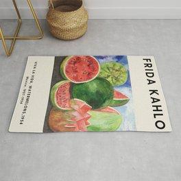 Frida Kahlo - Viva La Vida, Watermelons, 1954 - Exhibition Poster - Art Print Rug