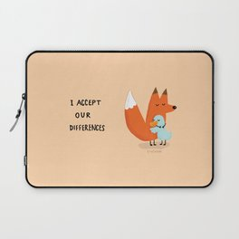Fox & Duck - I Accept Our Differences Laptop Sleeve