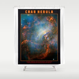 Beating Heart of the Crab Nebula Shower Curtain