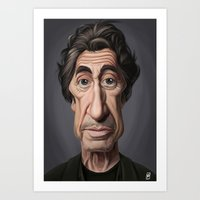celebrity Art Prints featuring Celebrity Sunday ~ Al Pacino by rob art | illustration