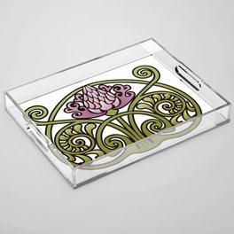 Nouveau Thistle Acrylic Tray
