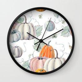 Autumn Pumpkin Pie Wall Clock