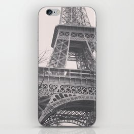 Eiffel tower, Paris, black & white photo, b&w fine art, tour, city, landscape photography, France iPhone Skin