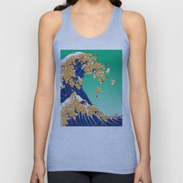 Christmas Shiba Inu The Great Wave Unisex Tank Top