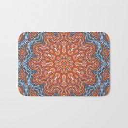 Blue - orange kaleidoscope Bath Mat