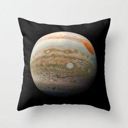 Planet Jupiter Deep Space Probe Telescopic Photograph No. 2 Throw Pillow