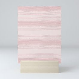 Abstraction. Graphic horizontal pink lines. Mini Art Print