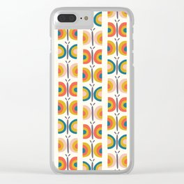 Retro Butterflies Clear iPhone Case