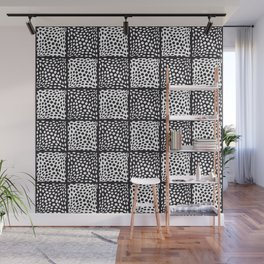 Dot Pattern (Black and White) Wall Mural