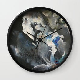 Wolf In Space Wall Clock