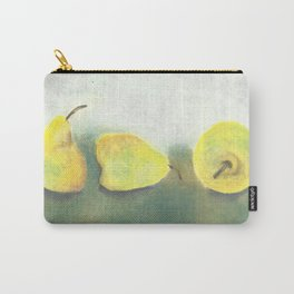 3 Yellow and Green Pears Carry-All Pouch
