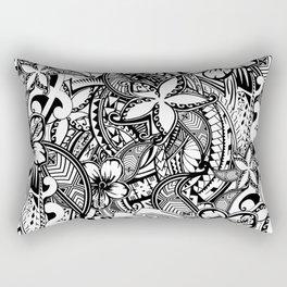 Hawaiian Polynesian Trbal Tatoo Print Rectangular Pillow