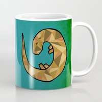 otter Mugs featuring Otter by Jackie Wyant