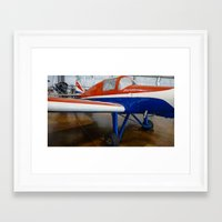 plane Framed Art Prints featuring plane by sannngat