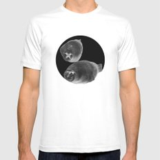 Sea lions in conversation MEDIUM White Mens Fitted Tee