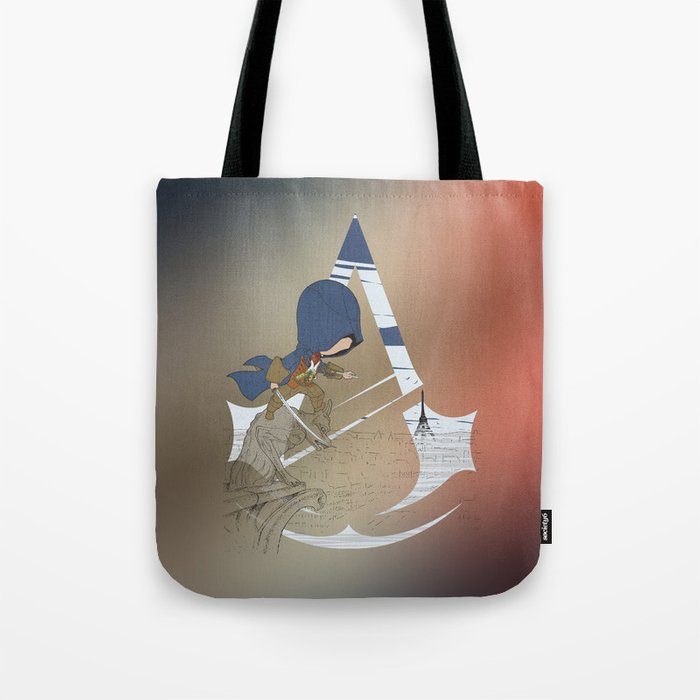 Chibi Assassin's Creed Paris Tote Bag
