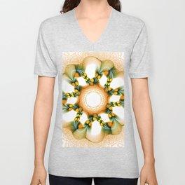 A White Rose Unisex V-Neck
