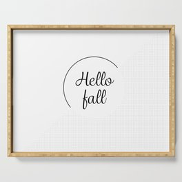 Hello fall | minimilist grid Serving Tray