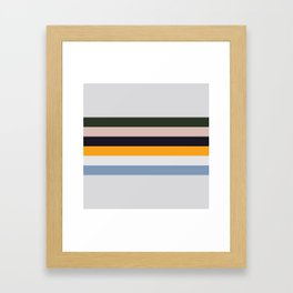 Paint Stripes Framed Art Print