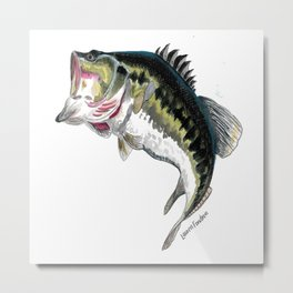 Mr Bass Metal Print