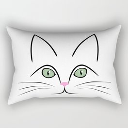 Cat face Rectangular Pillow