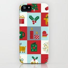 Fun Christmas Pattern iPhone Case