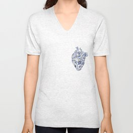 Broken heart - kintsugi Unisex V-Neck