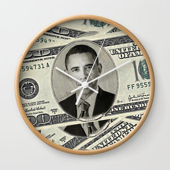 Mr President's Green Wall Clock
