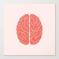 brain Canvas Prints featuring Brain by Yellow Chair Design